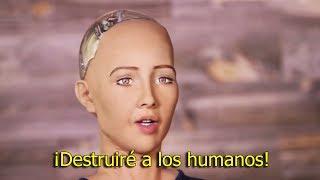 Este Robot con Inteligencia Artificial amenaza con acabar con los humanos