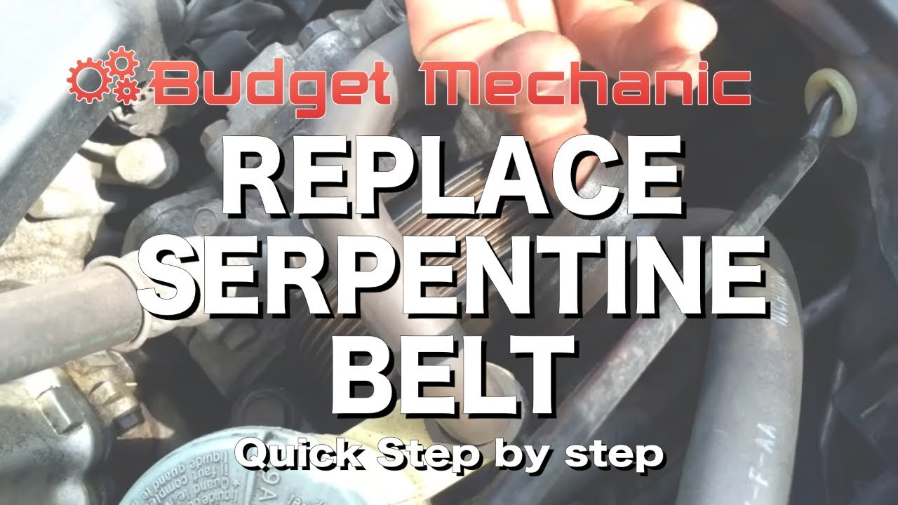 How To Replace Serpentine  Drive  Belt