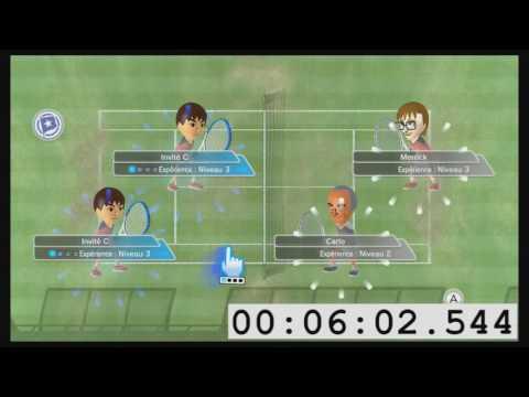 🥇 Speedrun sur Wii Sports Club : Atteindre le niveau 10 au tennis en 31:46
