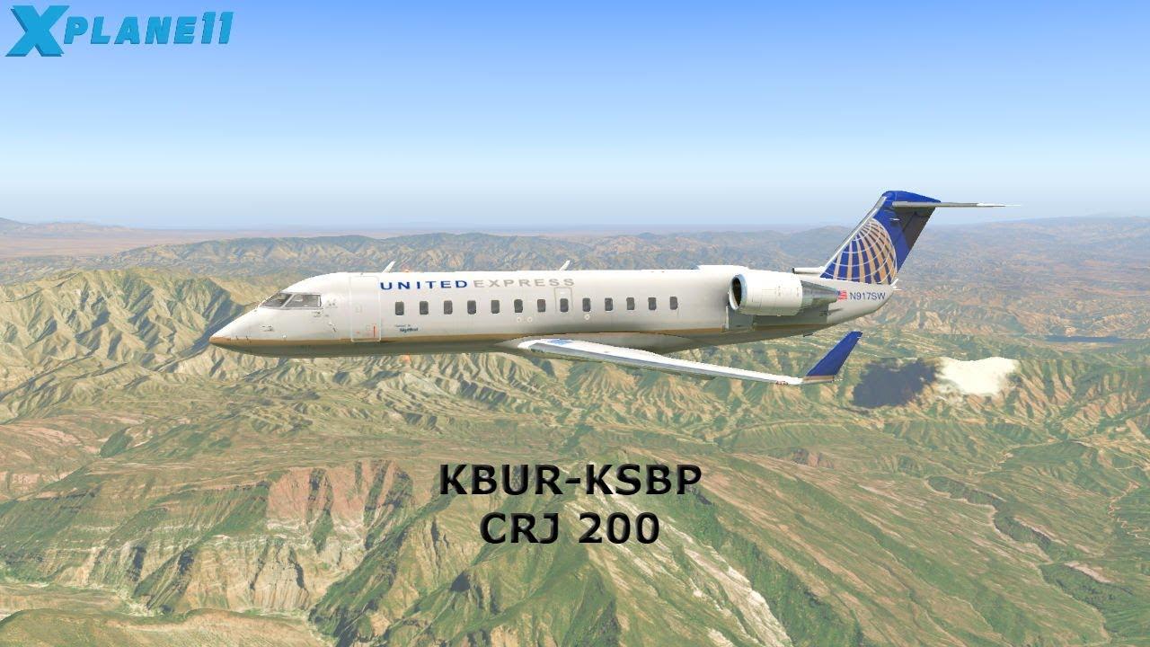X-Plane 11 - JRollon CRJ-200 - Burbank ✈ San Luis Obispo