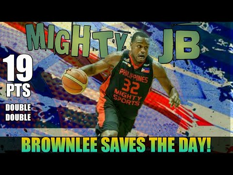 Justin Brownlee Sinagip ang PH Mighty Sports sa Lebanon Champs | Clutch JB Full Game Highlights