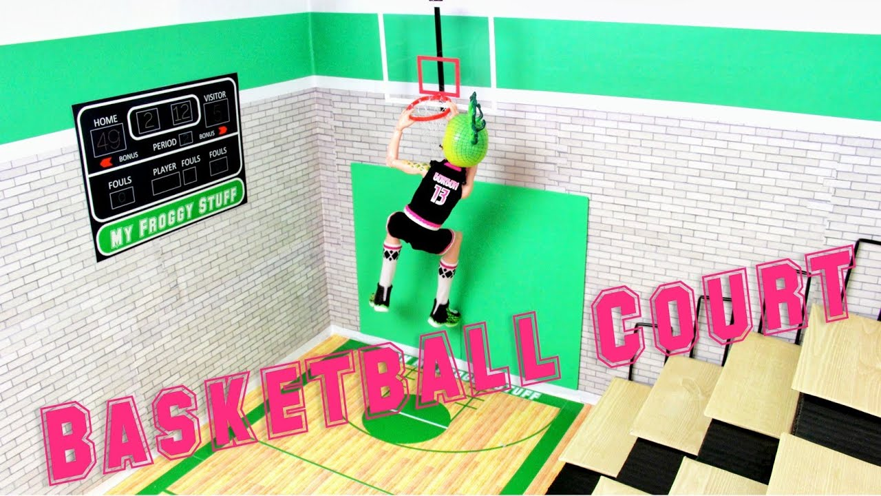 How To Make A Doll Basketball Court Doll Crafts Youtube
