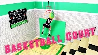 How to Make a Doll Basketball Court - Doll Crafts