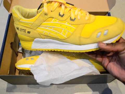 asics gel lyte iii yellow cmyk
