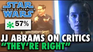 "JJ Abrams Responds to Critics ""They're Right"" about Star Wars: The Rise of Skywalker"