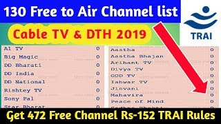 Download List Of All Indian Free Tv Channels With Name Logo Trai Dth