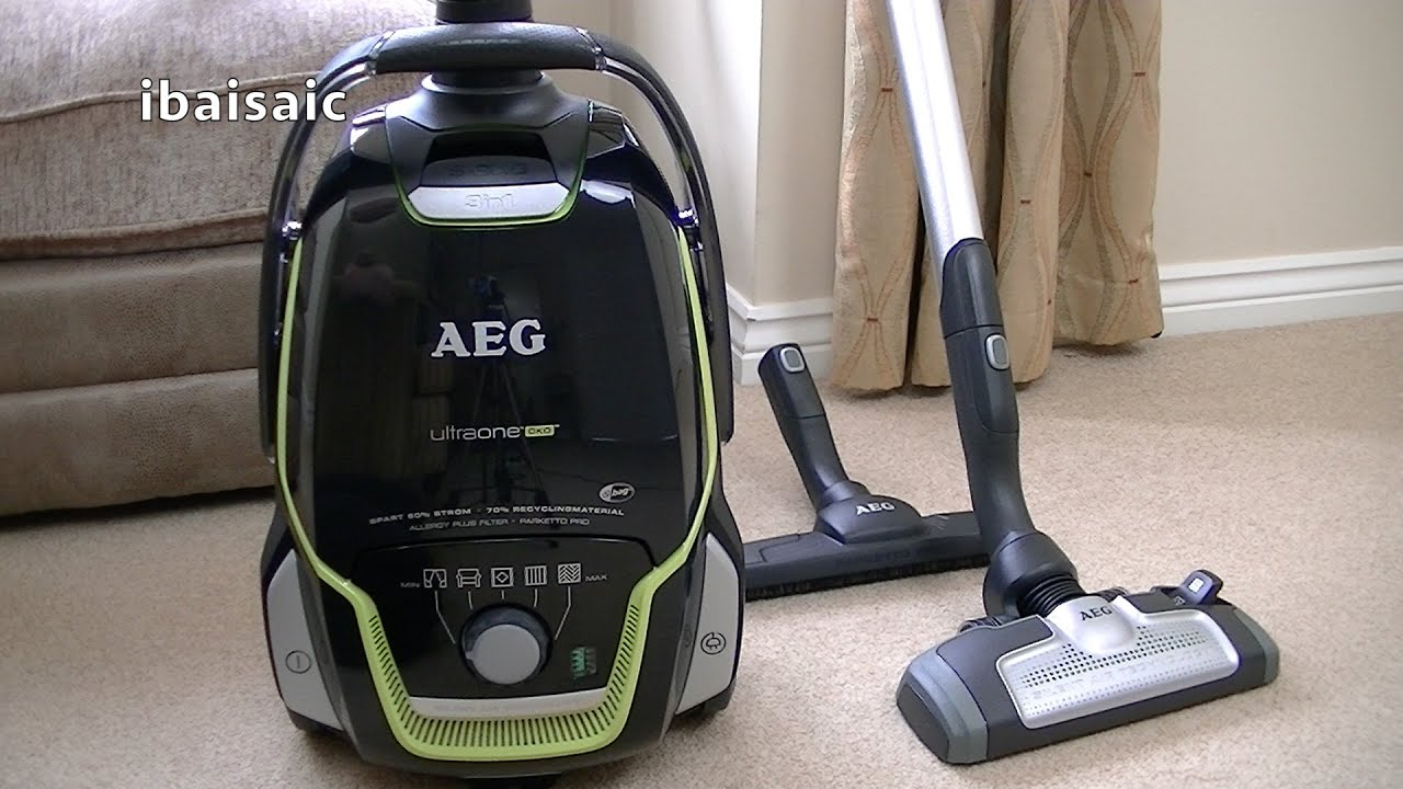 AEG Electrolux UltraOne Green Cylinder Vacuum Cleaner Review U0026 Demonstration