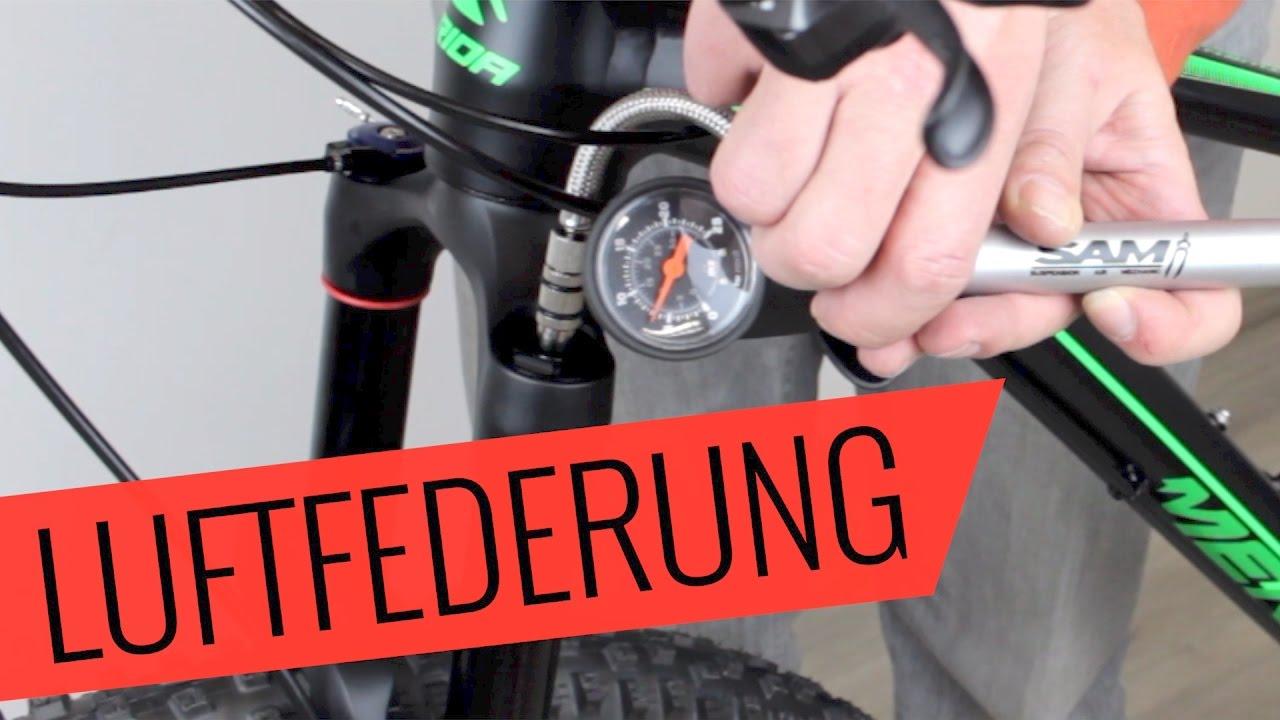 Fahrrad Luftfederung einstellen - Fahrrad.org - YouTube