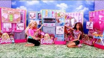Marivobox #8 * Mega Unboxing Barbie Zestawy Wypoczynkowe * Grill Hamak Unboxing z lalkami