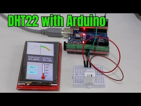DHT22 With Arduino - Humidity And Temperature Sensor With Touch Screen LCD