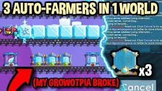 3 AUTO-FARMS IN THE SAME WORLD (I broke Growtopia...) | Growtopia