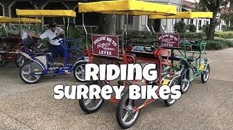 Riding Surrey Bikes at Port Orleans Riverside