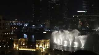 Dubai Mall Misical Fountain with Jacky Cheung Song -  Wen Bie