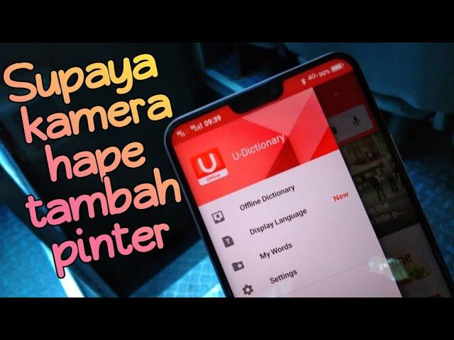 Cara Biar Kamera Hape Tambah Pinter Review Aplikasi U Dictionary Youtube