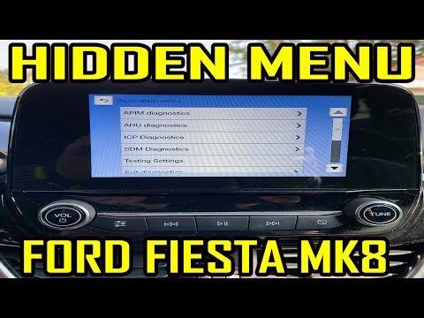 Ford Fiesta Mk8 Hidden Menu Sync 3 Youtube