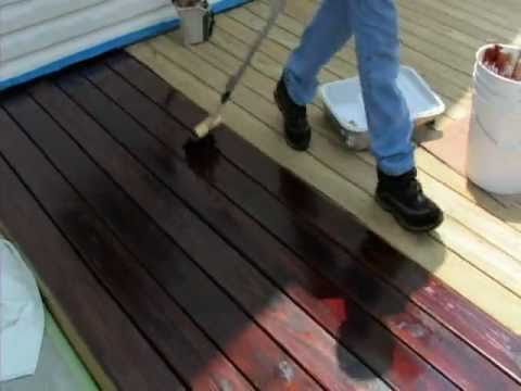 applying one time wood protector youtube. Black Bedroom Furniture Sets. Home Design Ideas