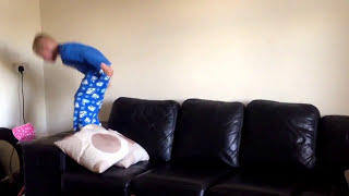 How to do a Backflip off a sofa (by a 5 year old!)
