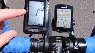 Wahoo Elemnt vs Garmin Edge 820: Maps and Basic Navigation Free HD Video