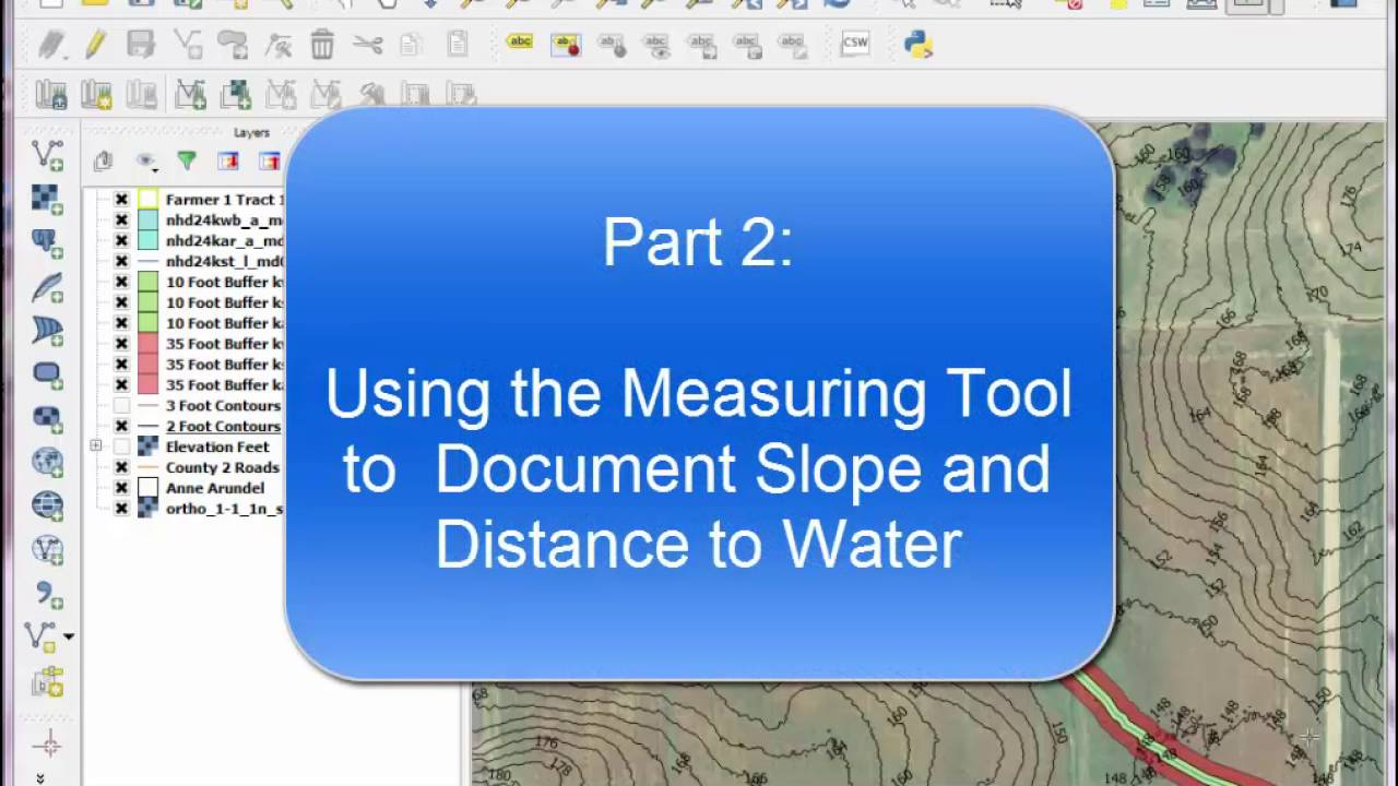 QGIS Lesson 5 - Determine Distance to Water, Calculate Avg Slope Length,  Percent Slope, and Document