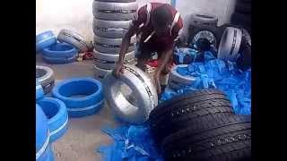 Упаковка шин для продажи на базаре. Матрёшка или сломанный борт.(, 2014-09-05T05:51:04.000Z)