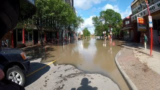 Calgary Floods - Motorcycle Ride and Viewpoint (Vlog)