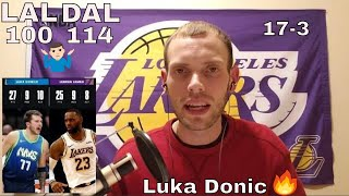 Lakers/mavs Reaction!! Luka Donic Leads Mavs To 114-100 Win| Lebron/ad Combined For 52 In Loss
