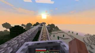 Minecraft Rail Transport( House and Mine, too! )