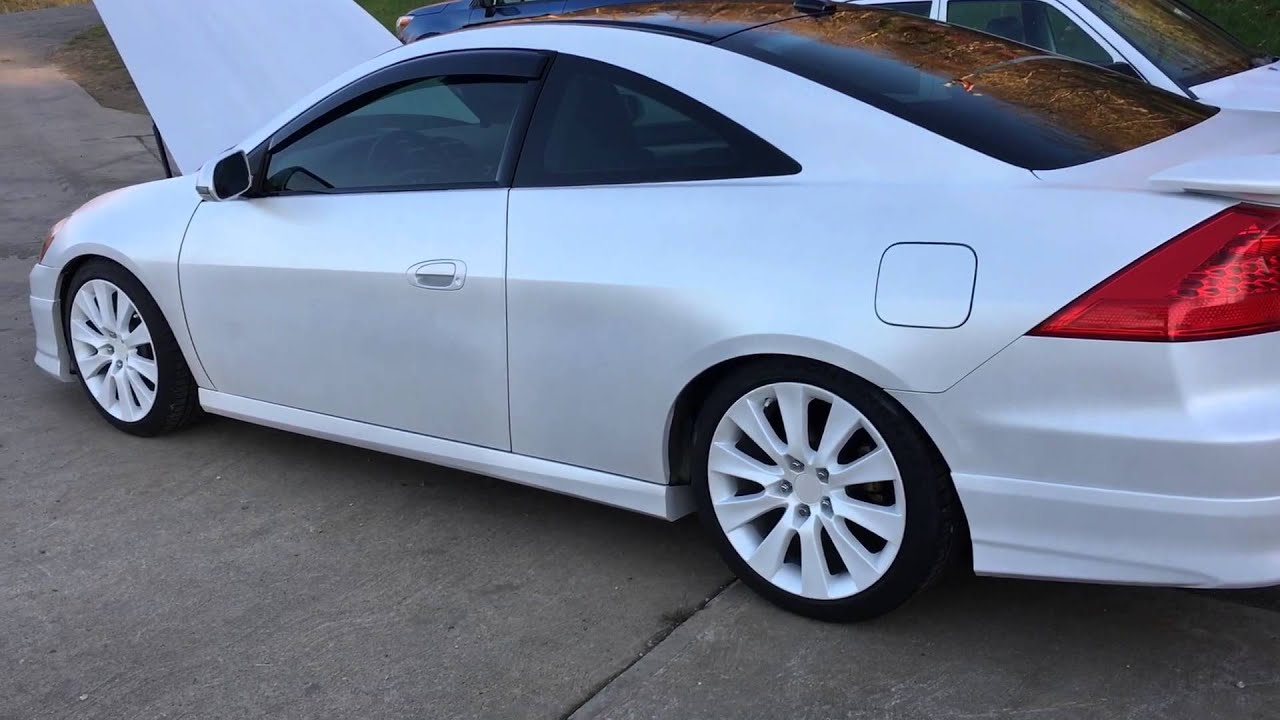 2003 White Honda Accord >> 7.5G V6 Accord Coupe - Newest mods - YouTube