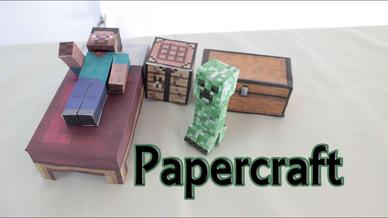 C mo hacer papercraft de minecraft manualidades f ciles - Manualidades en carton ...