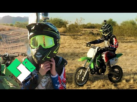 Starting Over On His KX65 // Dirt Bike Riding With Bryce!