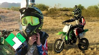 Starting Over On Bryce's KX65 // Dirt Bike Riding With Bryce!   Clintus.tv