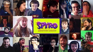 Live Reaction to Spyro Reignited Trilogy Trailer (20+ Synched Youtubers Compilation) | Re-edited