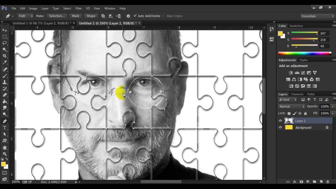 Puzzle Image Making In Photoshop Cc Youtube