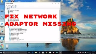#10 Windows 10 How to Fix Network adapter missing ,internet not connected to wifi #computerrepair