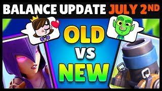 Balance Changes JULY 2018 OLD & New Comparison | Clash Royale Highlights