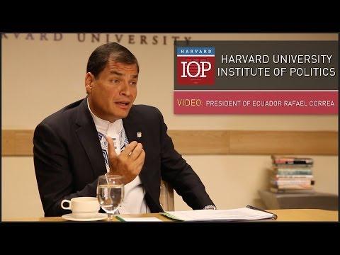 3 with IOP: President of Ecuador Rafael Correa