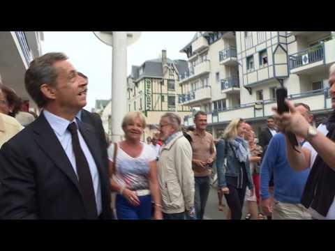 Sarkozy à la maison de la presse
