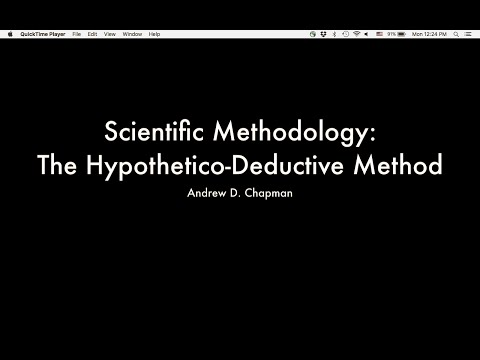 Scientific Methodology: The Hypothetico-Deductive Method