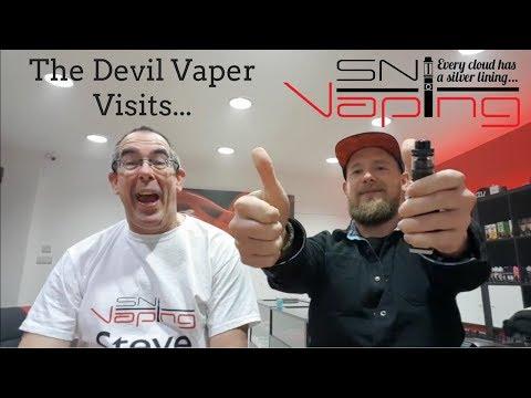 The Devil Vaper Visits SN Vaping [Blooper Reel at the End!]
