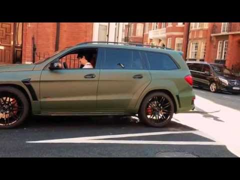 Brabus Mercedes Benz GL B63S 700 Widestar BiTurbo in green matte - sound, revs !