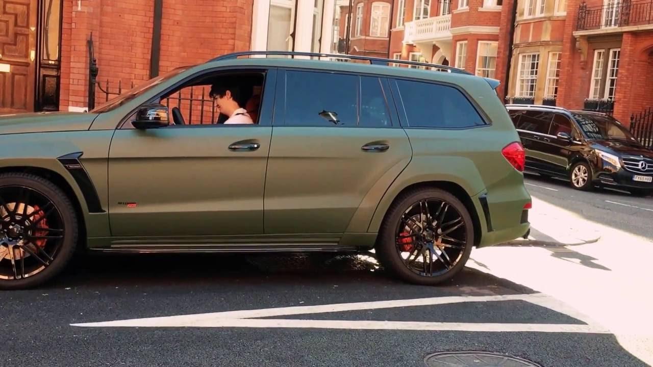 Brabus G Wagon >> Brabus Mercedes Benz GL B63S 700 Widestar BiTurbo in green matte - sound, revs ! - YouTube