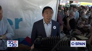 Andrew Yang calls President Trump a White Supremacist (C-SPAN)