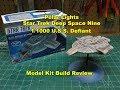 POLAR LIGHTS STAR TREK USS DEFIANT 1/1000  MODEL KIT BUILD REVIEW POL952