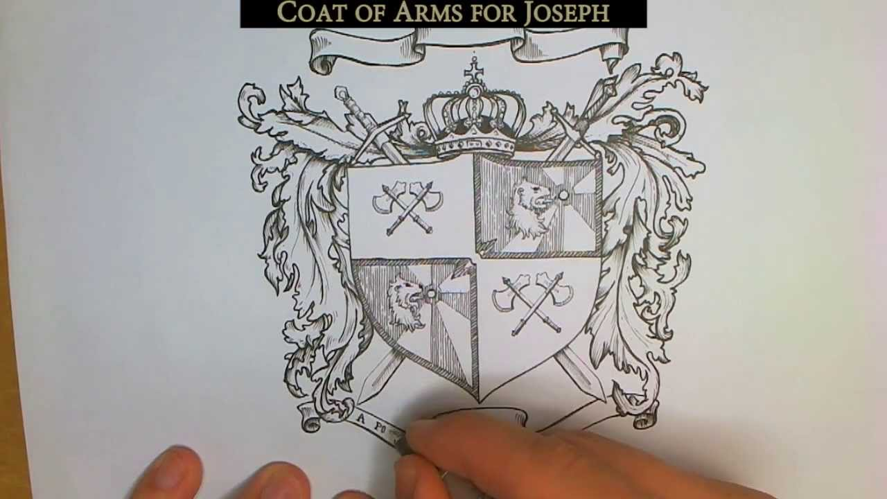 how to draw your own coat of arms youtube