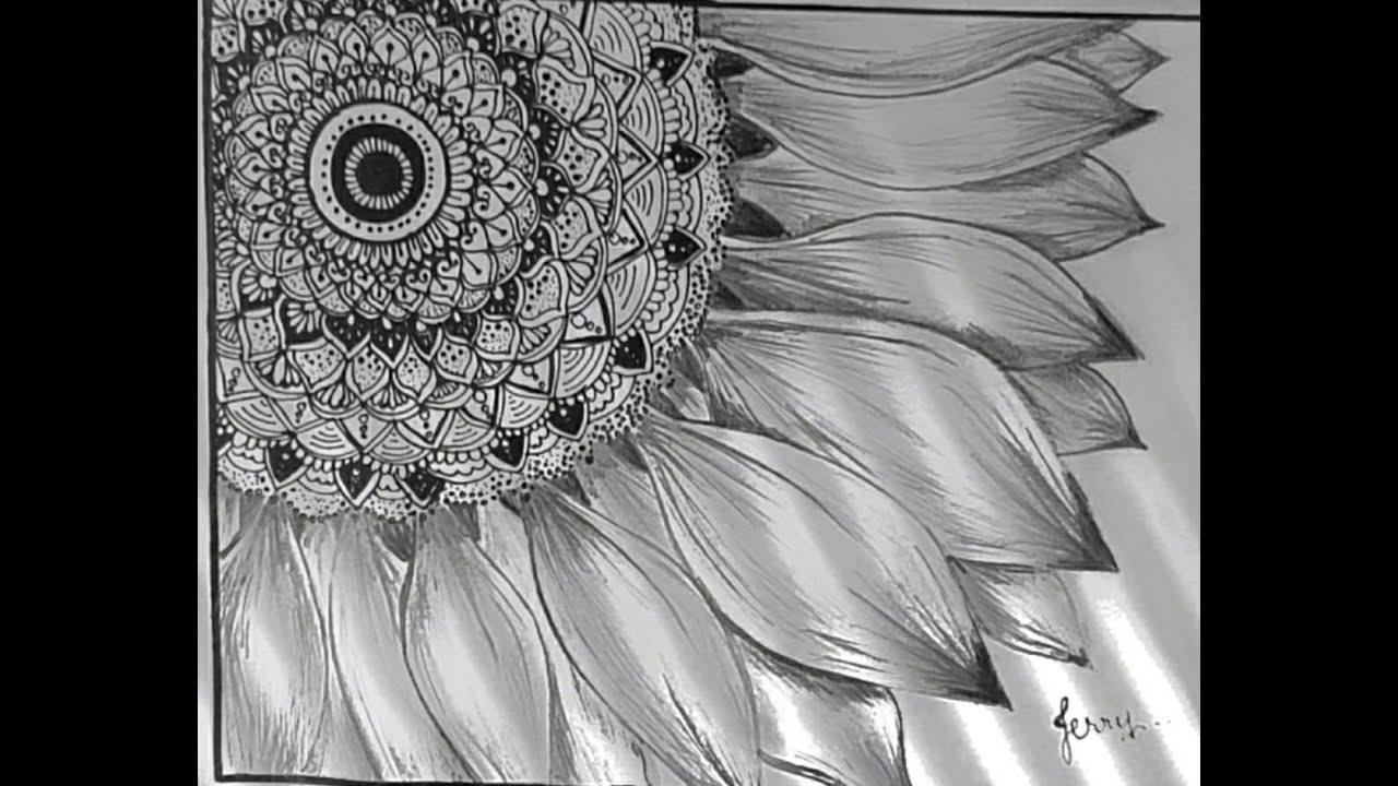 sunflower Mandala art - YouTube