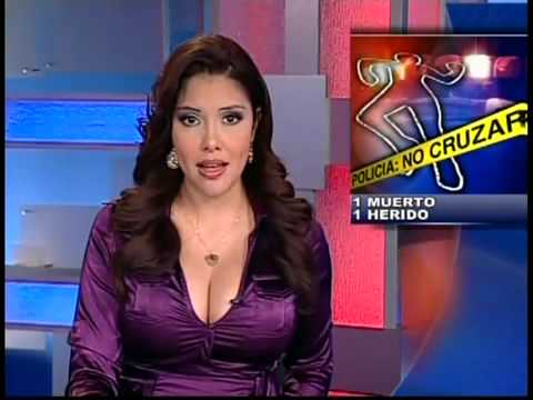 Busty weather reporter
