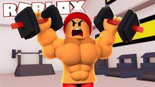 I used AUTOCLICKER and I WAS VERY STRONG and MUSCULAR in ROBLOX → Muscle Simulator 2 🎮