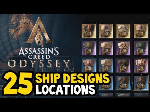 Assassin's Creed Odyssey - ALL SHIP DESIGNS / SKINS Locations Guide