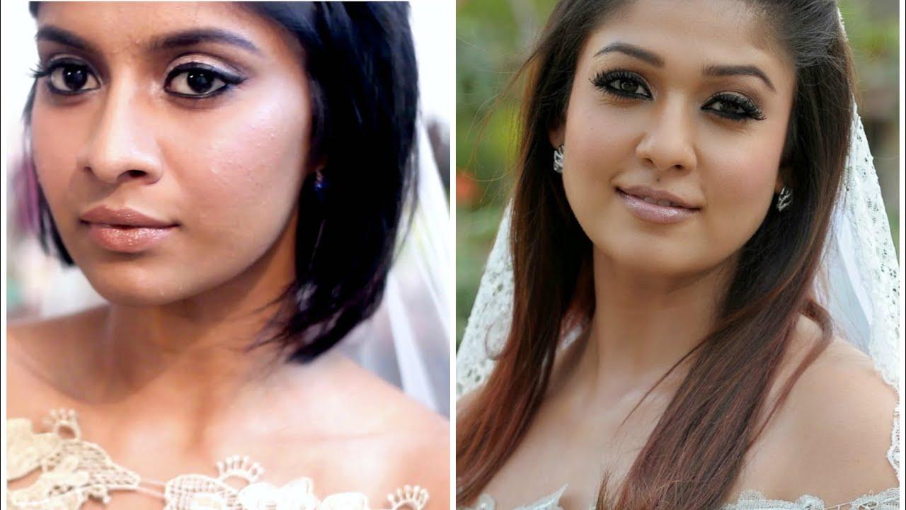 raja rani nayanthara inspired bridal look | anusha swamy - youtube