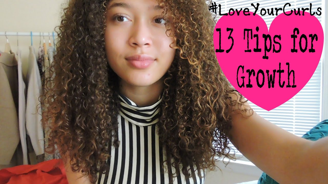 TIPS FOR GROWING LONG CURLY HAIR - YouTube